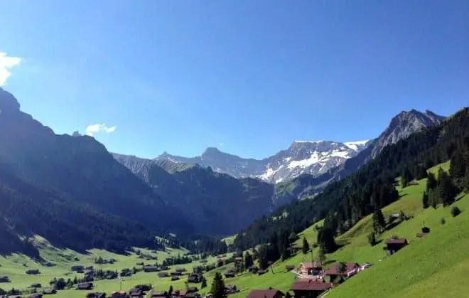 village of adelboden in summer
