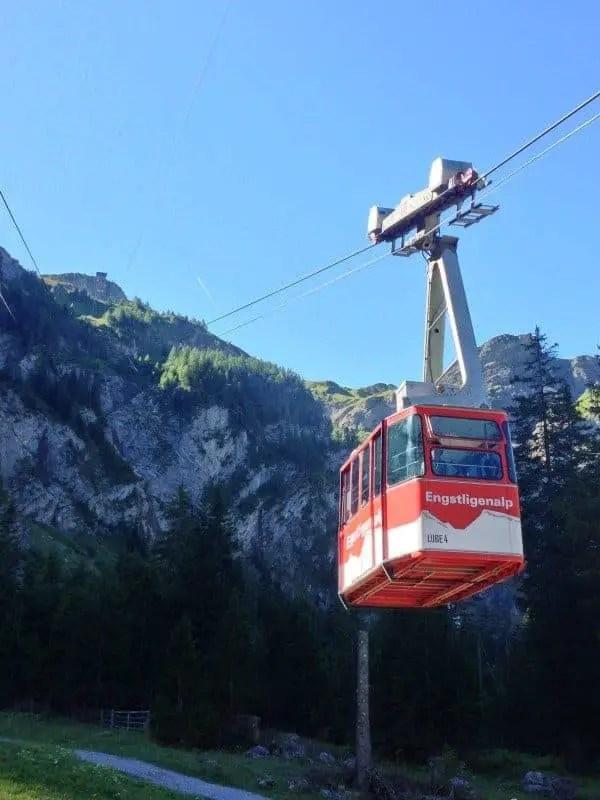 cable car up engstligensalp adelboden