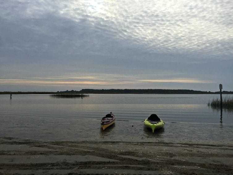 kayaks in murell's inlet
