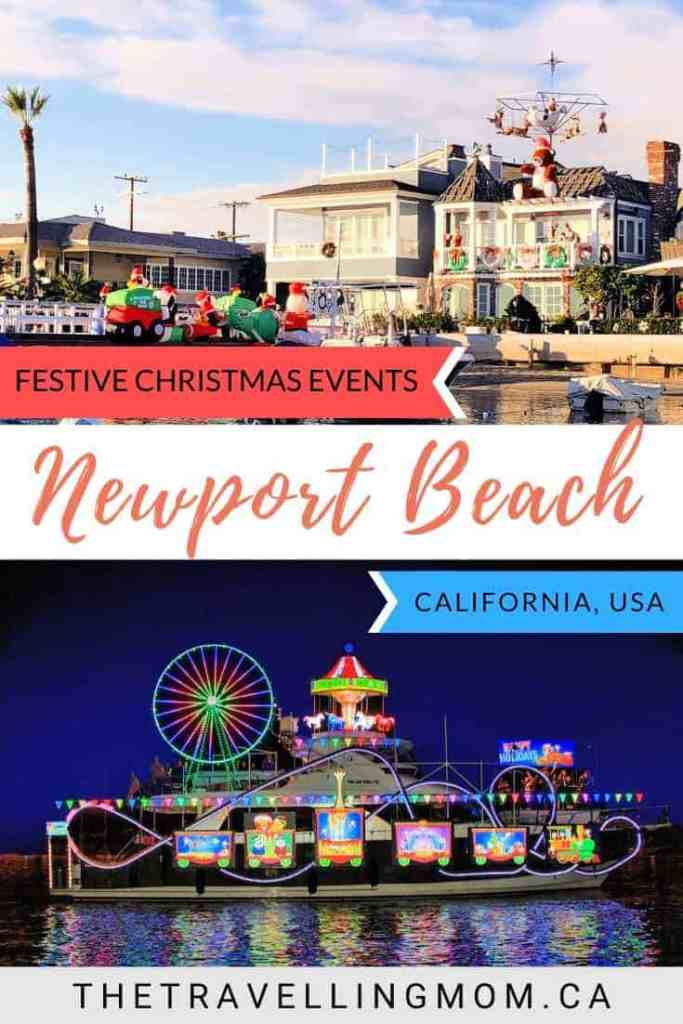 newport beach buildings decorated for christmas