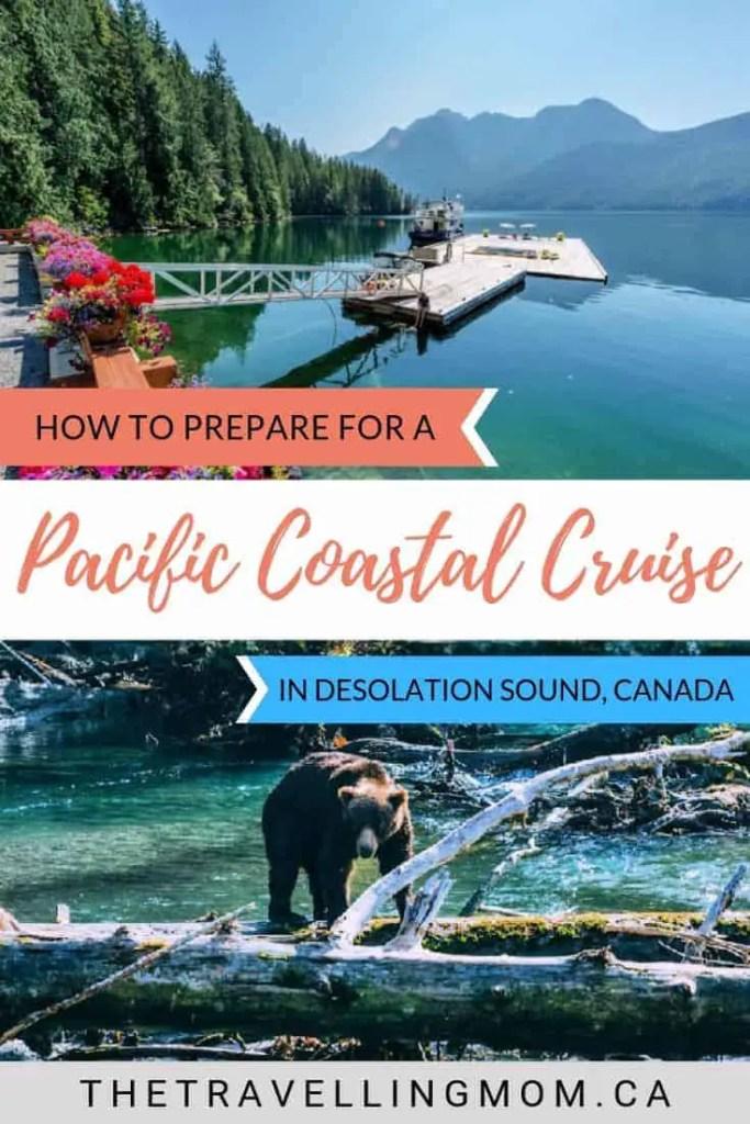 pacific coastal cruise ship at dock in bc