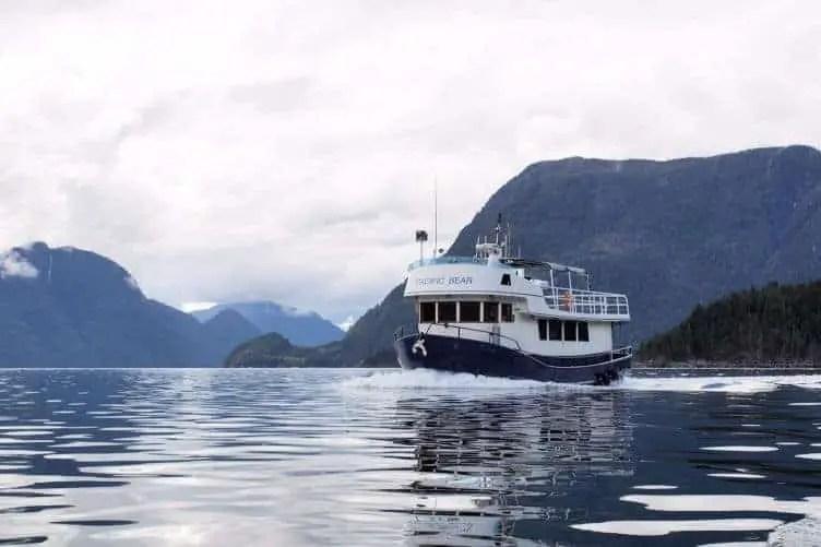 pacific bear ship in desolation sound