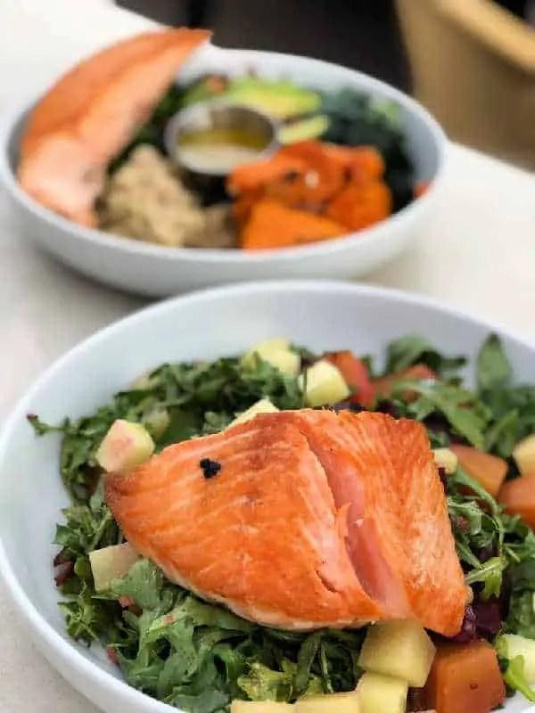 salmon on salada in tempe