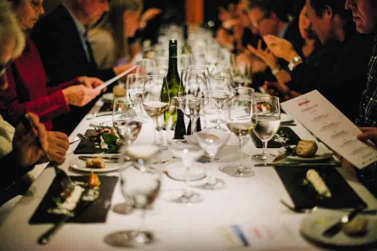 table and diners at whistler cornucopia