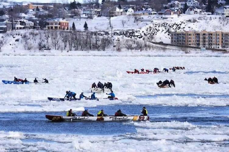 ice canoeing in quebec city