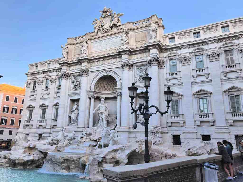 rome with kids trevi fountain