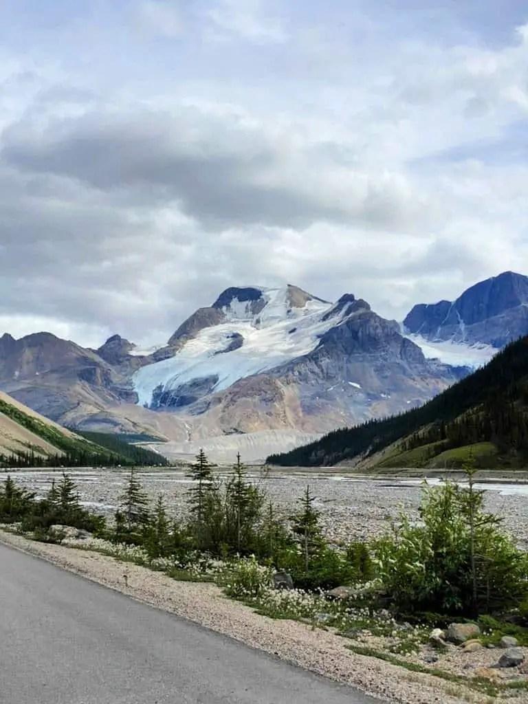 ice fields parkway glacier in summer