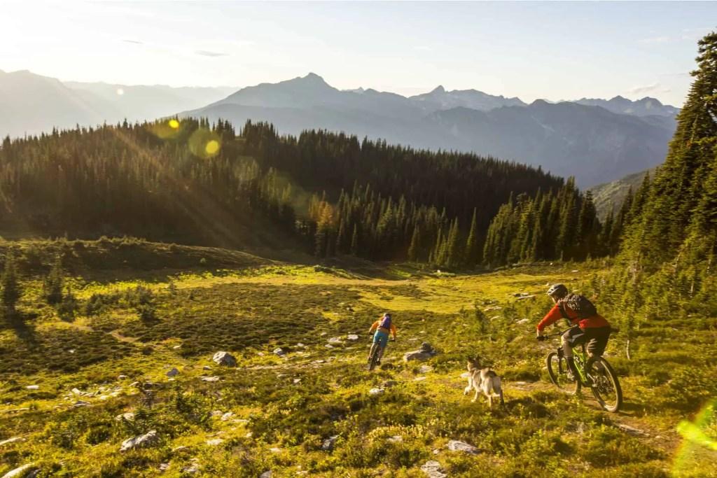 mountain biking in revelstoke in summer