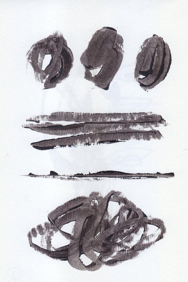 Ilustración de mi amiga Roxana Hartmann, los códigos de Diálogos del silencio.