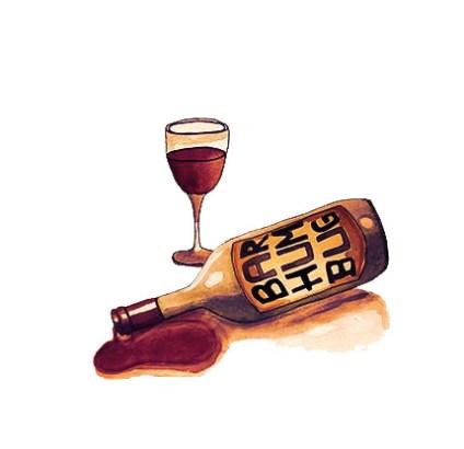 Drinks - For Bar Humbug, Melbourne Australia (Ink & Watercolor)