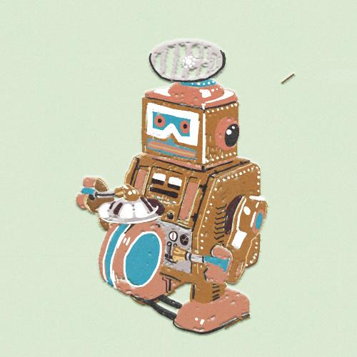 Claudie Linke Illustration_Vintage Robot