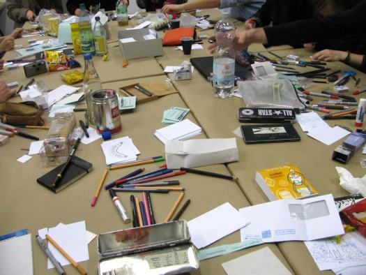 Full Tisch am 1. Workshop-Tag.