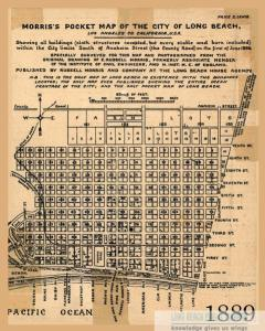 Real estate development in Long Beach in 1889 when the Tutts lived here.