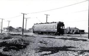 Pacific Electric car on the Peninsula - 1939