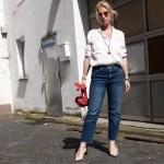Dior slingbacks and red belt bag - claudinesroom