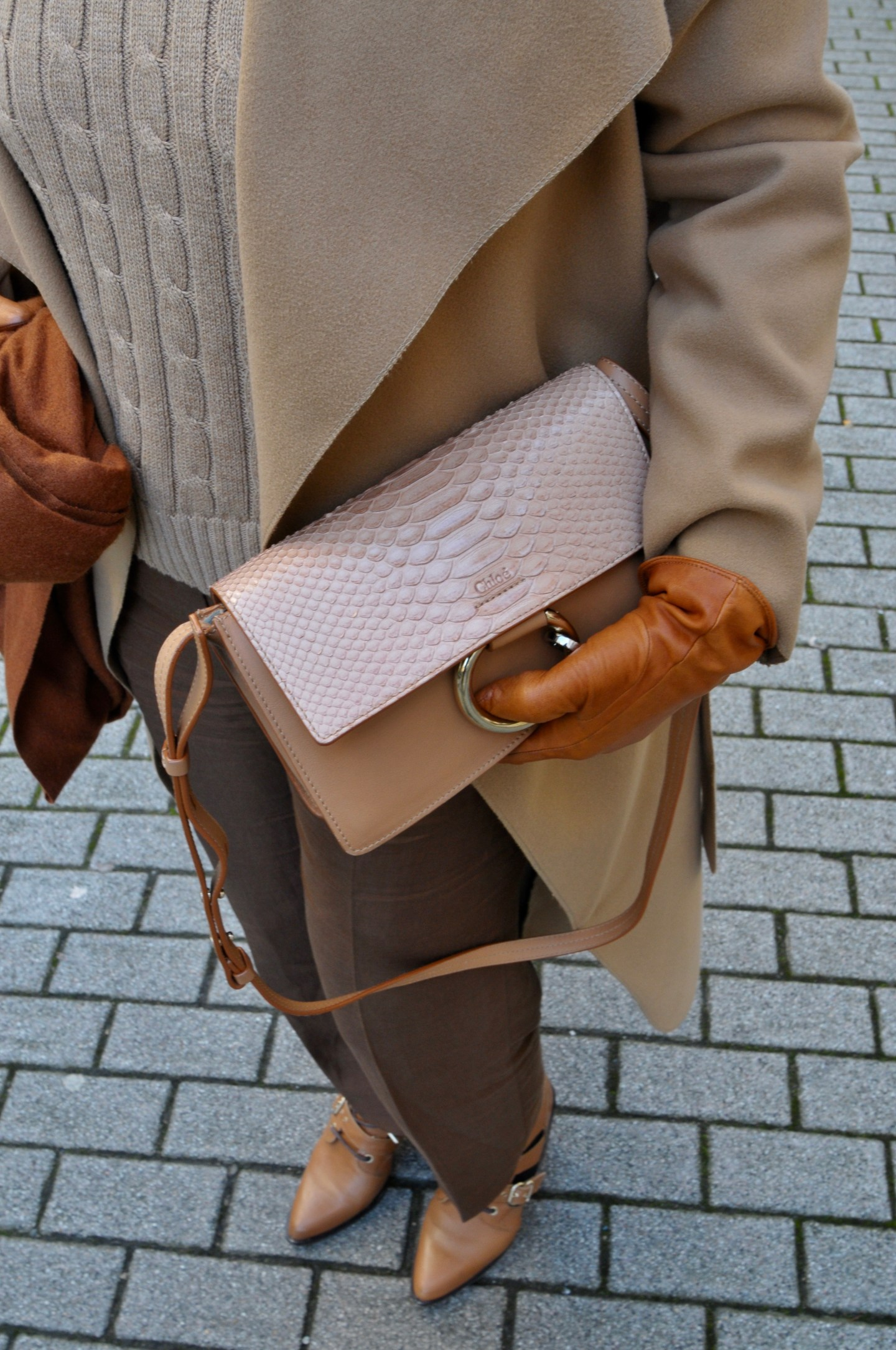 brown monochrome outfit