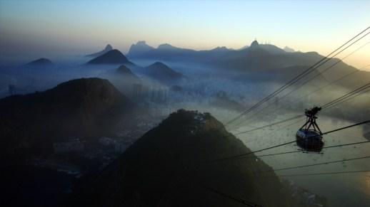 Rio de Janeiro under the fog