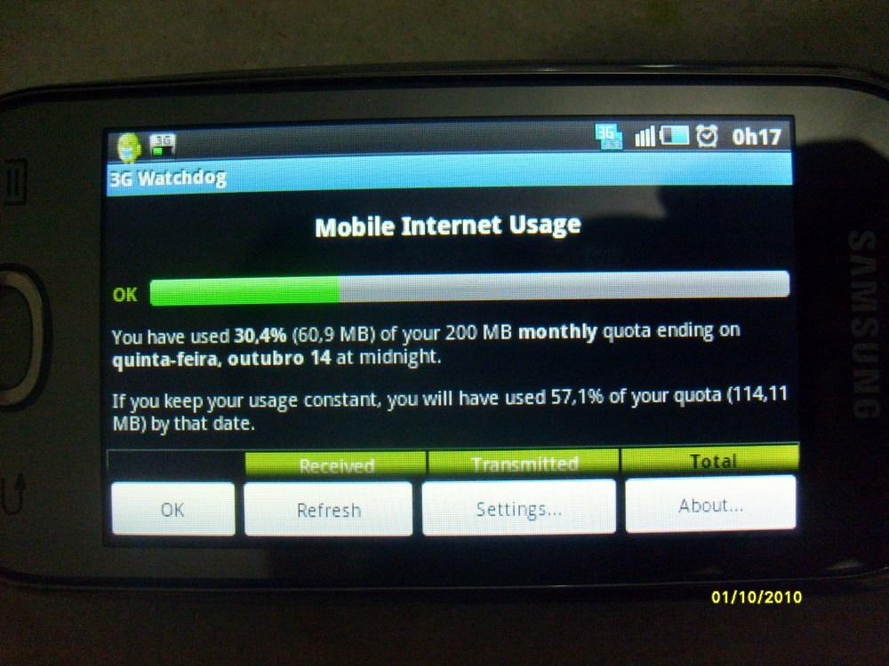 Samsung Galaxy 3: Primeiros passos no mundo Android (GT-I5800L) (2/5)