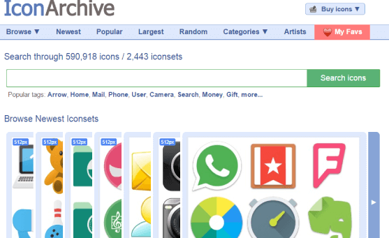 iconarchive iconos gratis