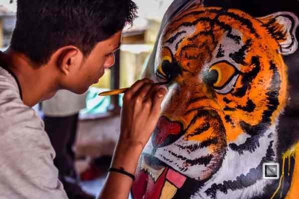 India - Kerala - Thrissur - Onam Festival - Pulikali-7