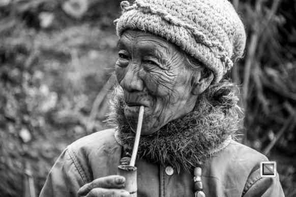 Myanmar Chin Tribe Portraits Black and White-13