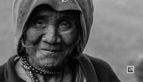 Myanmar Chin Tribe Portraits Black and White-25
