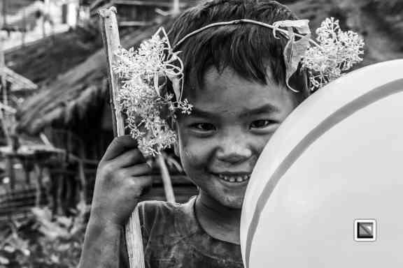 Myanmar Chin Tribe Portraits Black and White-36