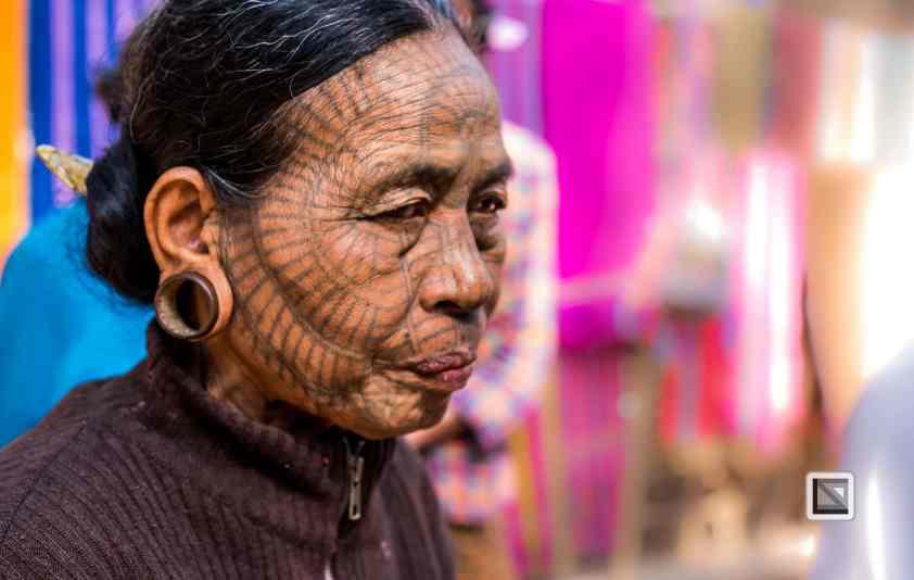 Myanmar Chin Tribe Portraits color Mrauk-U-18