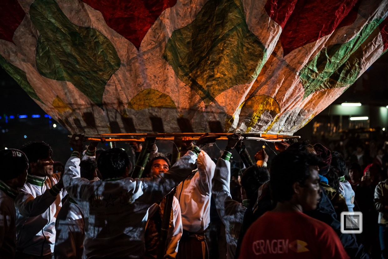 Tazaungdaing fire balloon festival in Taunggyi, Myanmar