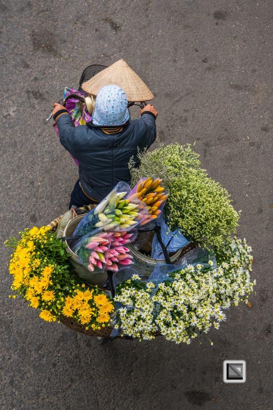 The iconic street vendors of Hanoi, Vietnam