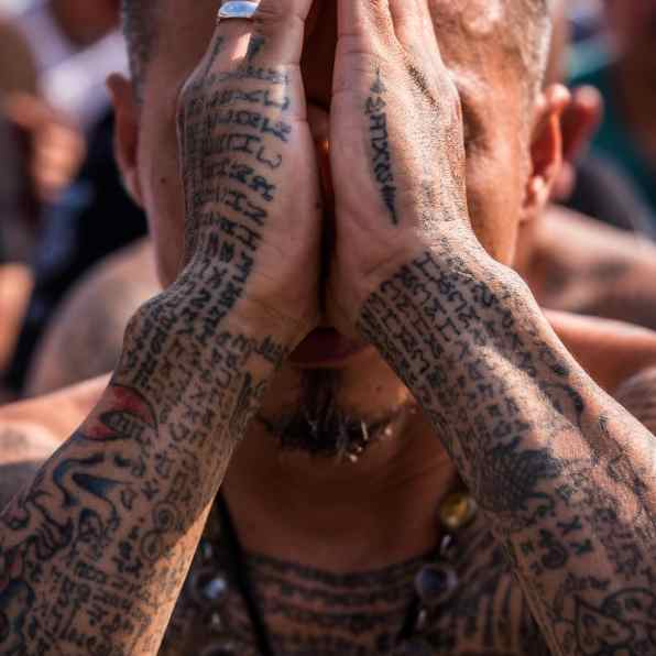 Wai Khru Festival near Bangkok (Thailand) - home of the famous Sak Yant tattoo artists