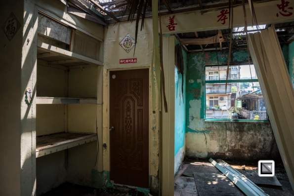 Spooky scene during ghost Month in Keelung Taiwan