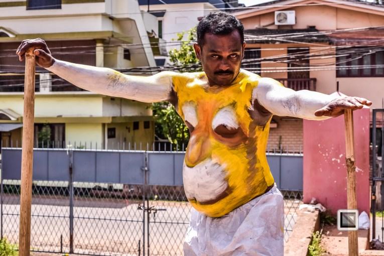 India - Kerala - Thrissur - Onam Festival - Pulikali-49