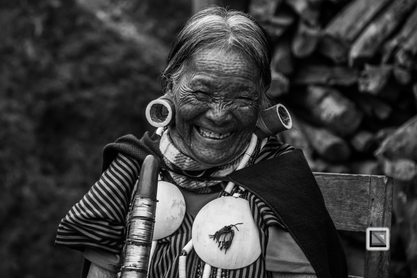 Myanmar Chin Tribe Portraits Black and White-5