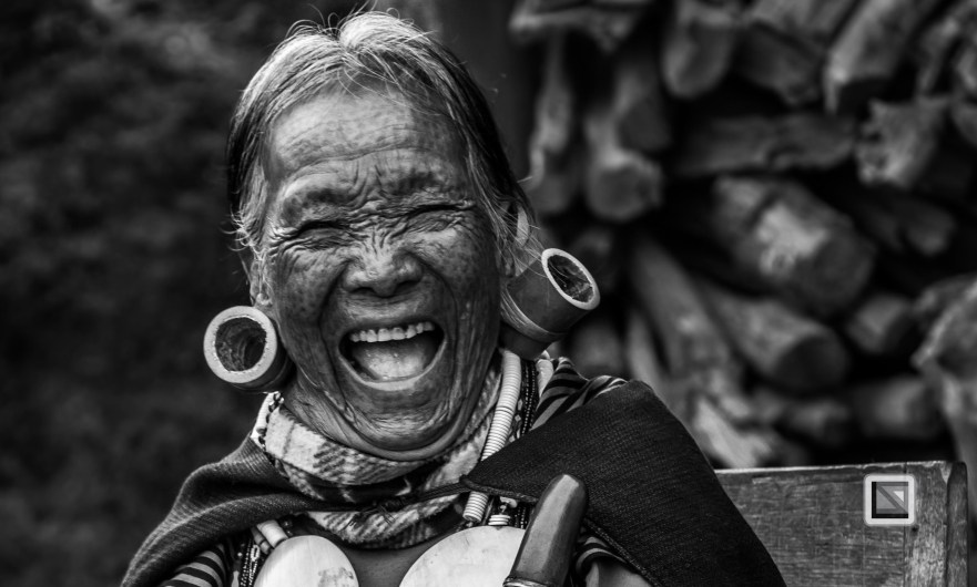 Myanmar Chin Tribe Portraits Black and White-8
