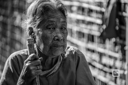 Myanmar Chin Tribe Portraits Black and White Mrauk-U-32