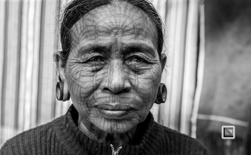 Myanmar Chin Tribe Portraits Black and White Mrauk-U-9
