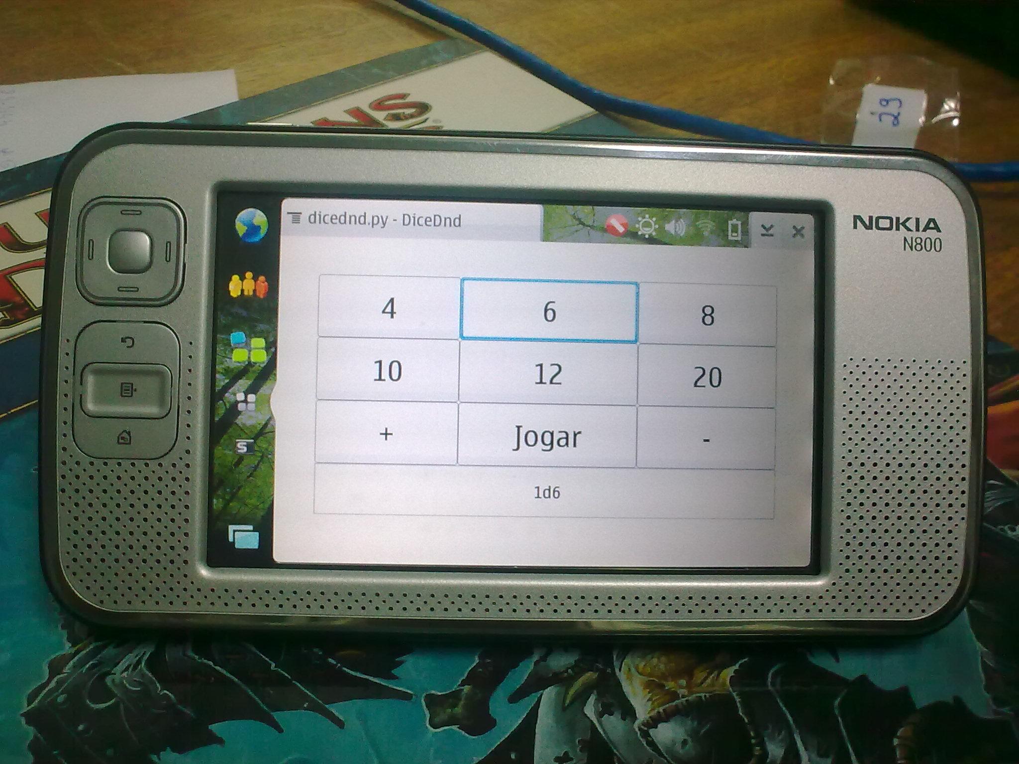 DiceDnd no Nokia N800