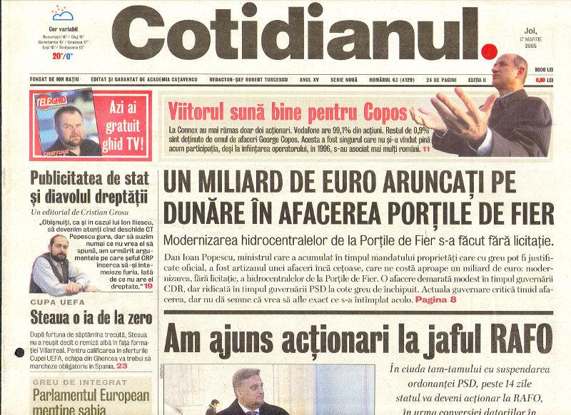 Un miliard de euro aruncați pe Dunăre în afacerea Porțile de Fier