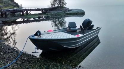The skiff...