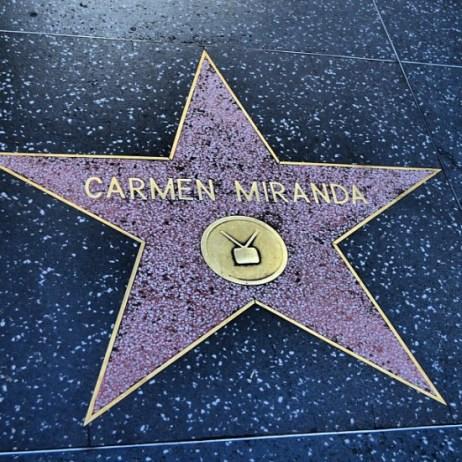 Estrela na calçada da fama- Carmen Miranda- By ClauGrunow