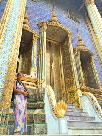 Eu num dos lados do Panteão Real -Photo by Claudia Grunow