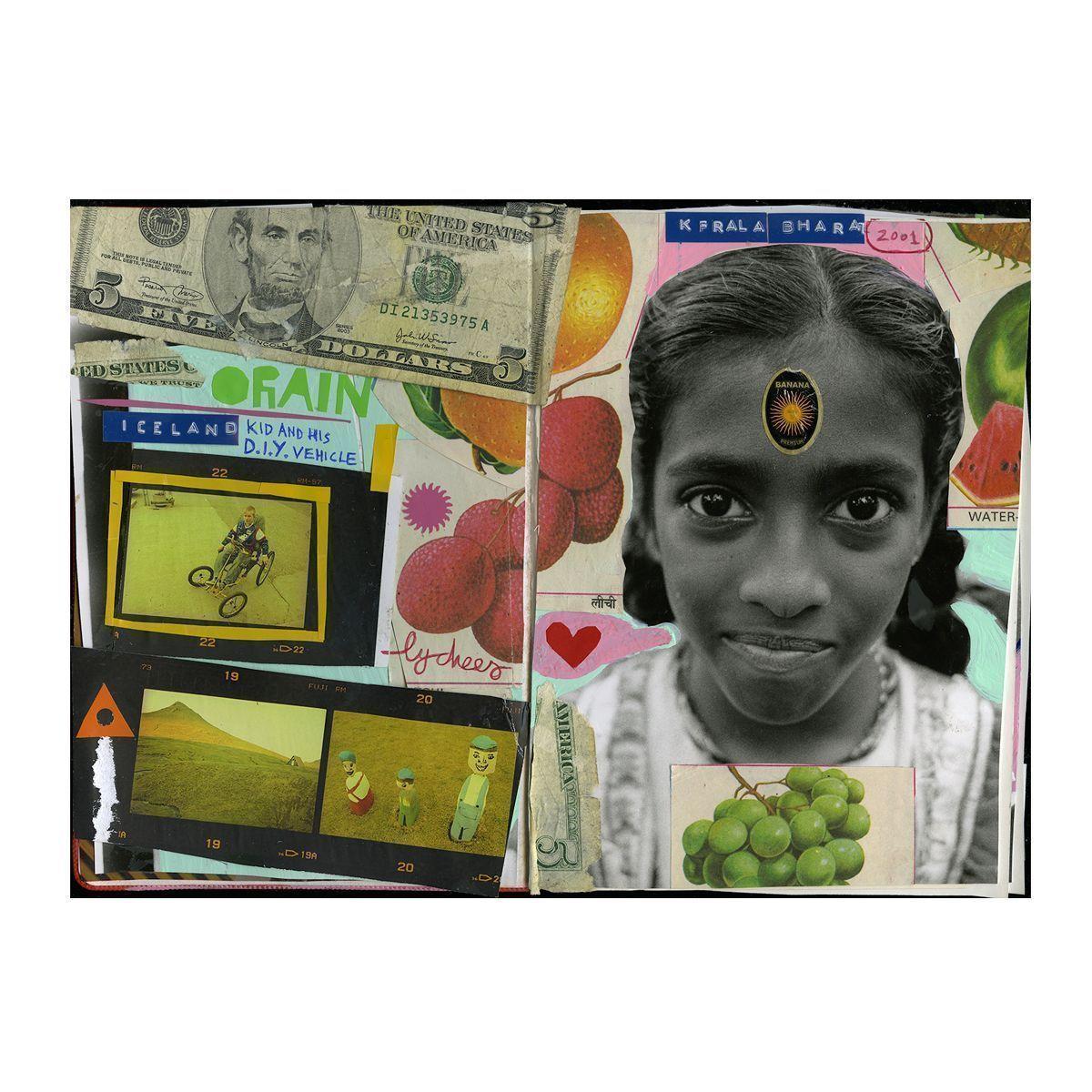 Bharat, collage en cuaderno, Algatocín 2015. © Fernando Elvira