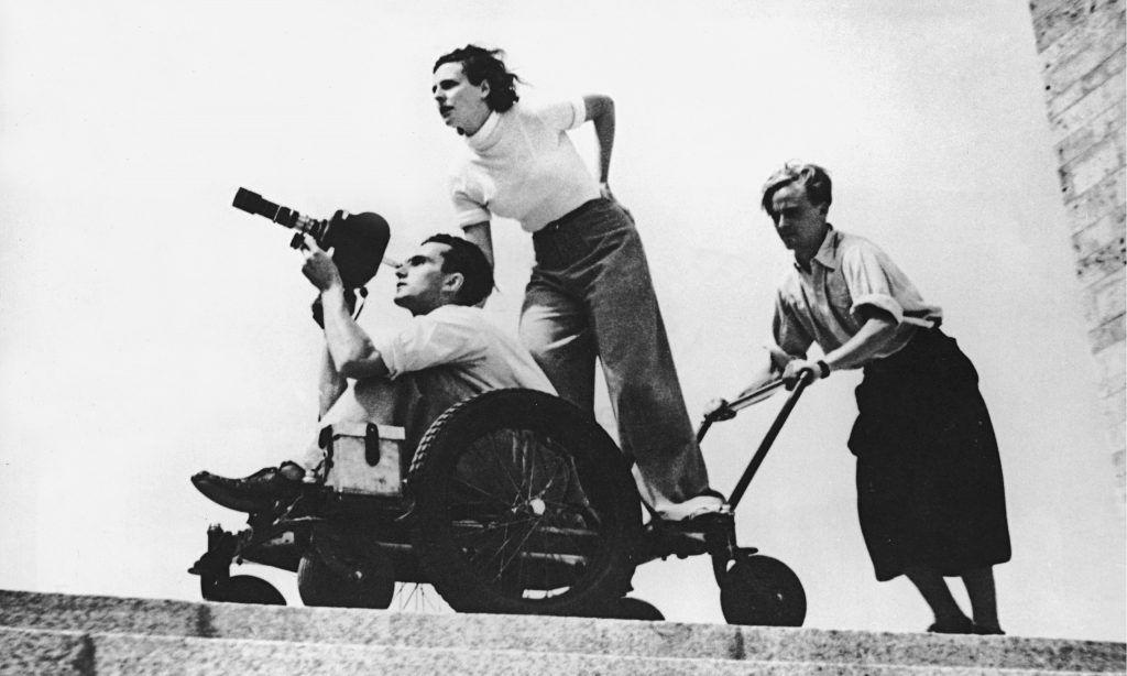 Leni Riefenstahl at 1936 Berlin Olympics