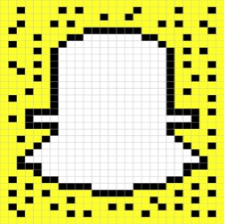 The SnapChat logo was created by a student at Osage High School using code. Each block is 12 units of code.