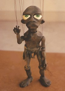 "Bill Johnk's marionette version of J.R.R. Tolkien's character Gollum from ""The Lord of the Rings"" and ""The Hobbit."