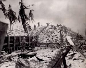 1st. Lt. Alexander Bonnyman Jr. during the battle of Tarawa.