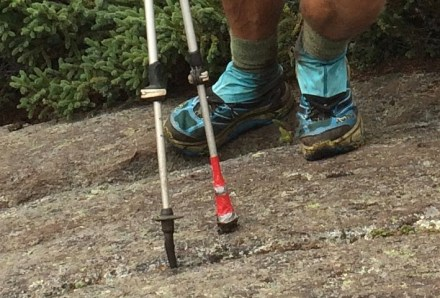 appalachian trail pole tip jury rig