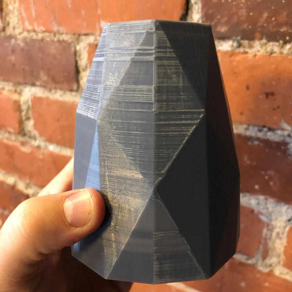 Sanding the 3D print