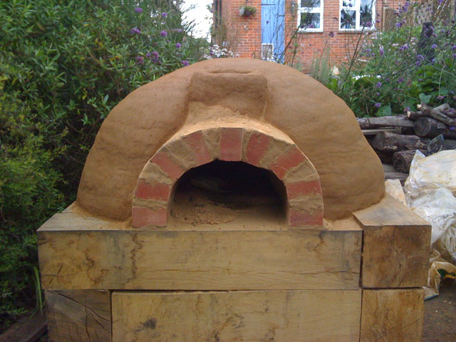 Finished oven from the front.